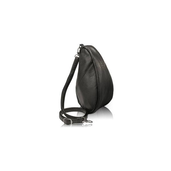 b6112d5f94 Shop AmeriBag Large Leather Baglett - Black AmeriBag Large Leather Baglett  - Free Shipping Today - Overstock.com - 18456994
