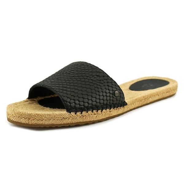 b09a7a3f2fb Shop Ugg Australia Cherry Exotic Open Toe Leather Slides Sandal ...