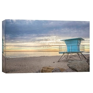 "PTM Images 9-102235  PTM Canvas Collection 8"" x 10"" - ""Lifeguard Station"" Giclee Coastlines Art Print on Canvas"