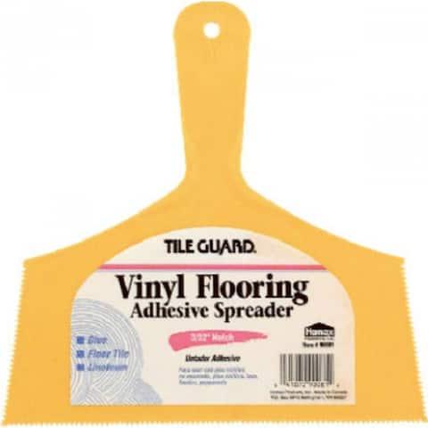 "Tile Guard 00081 Adhesive Spreader for Vinyl Flooring & Floor Tile, 8"""