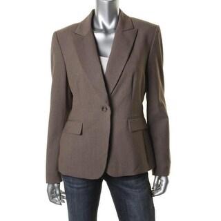 Tahari ASL Womens Ralph Long Sleeves Polyester One-Button Blazer