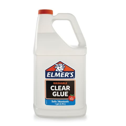 Elmer's 2022931 Clear Liquid School Glue, Washable, 1-Gallon