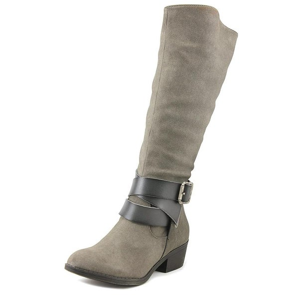 Blowfish Sharpshooter Women Round Toe Synthetic Gray Knee High Boot