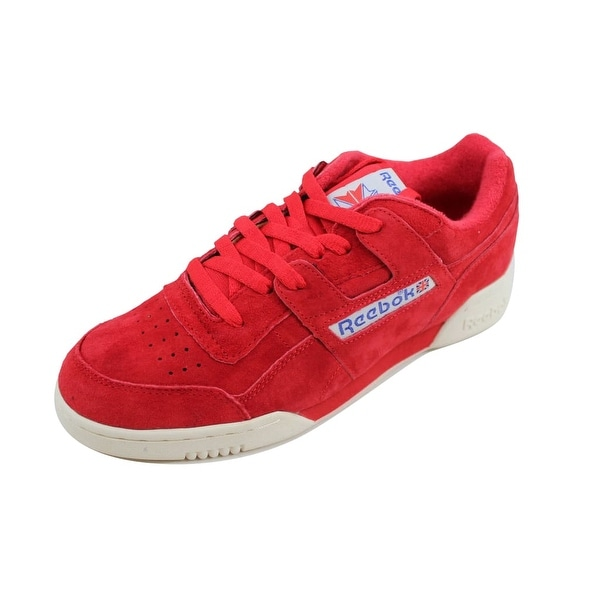 6161bb0c12f900 Shop Reebok Men s Workout Plus Vintage Primal Red Chalk-White BD3383 ...