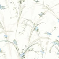 Brewster MEA19326 Cheshire Blue Meadowlark Trail Wallpaper - blue meadowlark