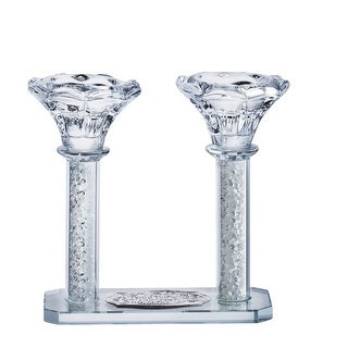 Crystal Candle Holder set of 2 Attached With Bracha