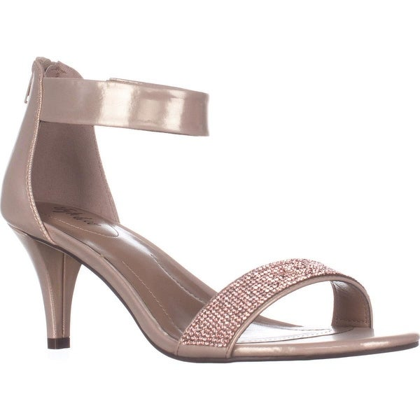 SC35 Phillys Ankle-Strap Evening Sandals, Rose Gold