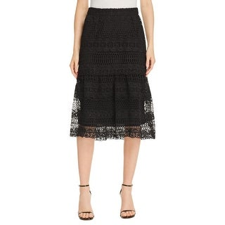 Lucy Paris Womens Flare Skirt Lace Layered