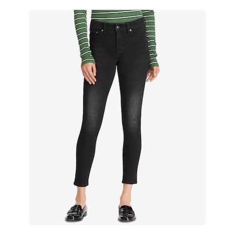 RALPH LAUREN Womens Black Ankle Skinny Jeans Size 10