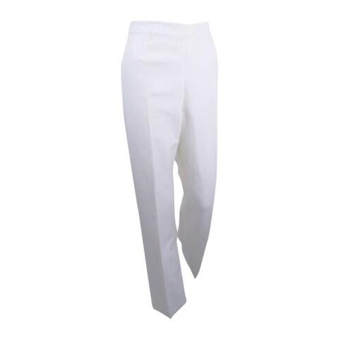 Kasper Women's Linen Side Zip Pants