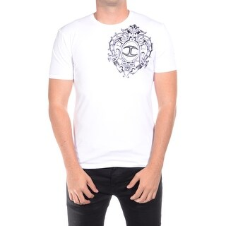 Just Cavalli Men's Classic Fit Jersey Tee T-Shirt Royal White