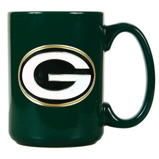 Green Bay Packers 15oz Green Ceramic Mug