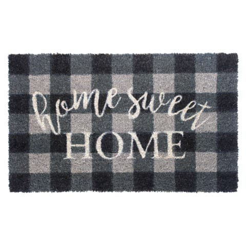 """RugSmith Gray Machine Tufted Home Sweet Home Doormat, 18""""x30"""""""