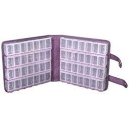 "9""X2.5""X9.5"" Purple Ultrasuede - Craft Mates Lockables Large Organizer Case"