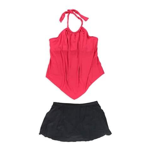 MiracleSuit Womens Nicole Underwire Skirt 2 Piece Tankini, orange, 16