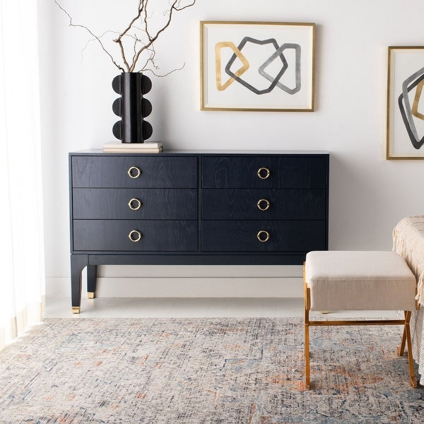 Safavieh Couture Lorna 6 Drawer Contemporary Dresser. Opens flyout.