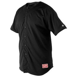 Rawlings Full-Button Adult Baseball Jersey