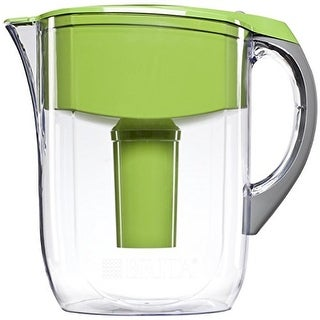 Brita 10 Cup Grand Water Pitcher with 1 Filter, BPA Free, Green