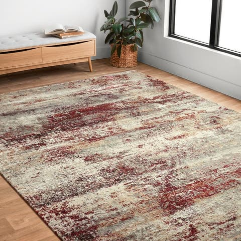 Alexander Home Lincoln Modern and Contemporary Rustic Area Rug