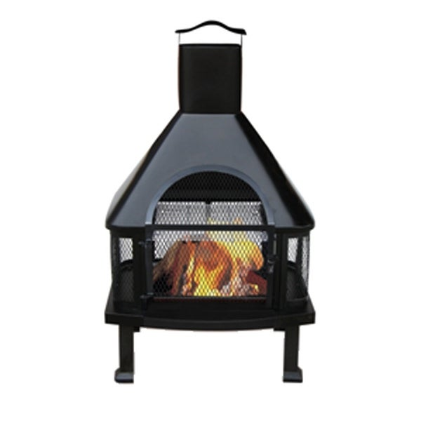 Shop Uniflame Waf1013c Outdoor Fireplace Black Free Shipping