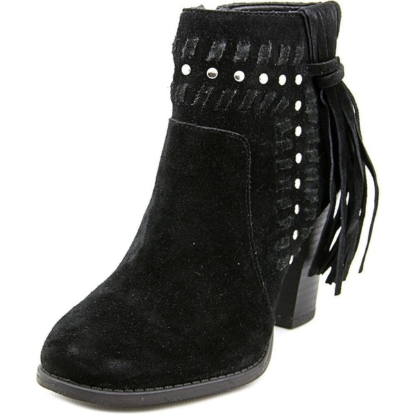 INC International Concepts Jade Women Round Toe Suede Black Bootie