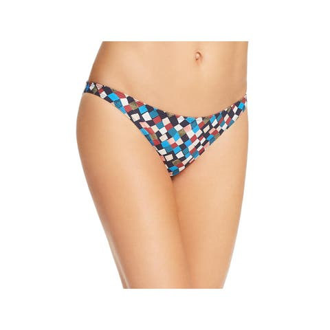 Tory Burch Womens Clemence Colorblock Checkered Swim Bottom Separates