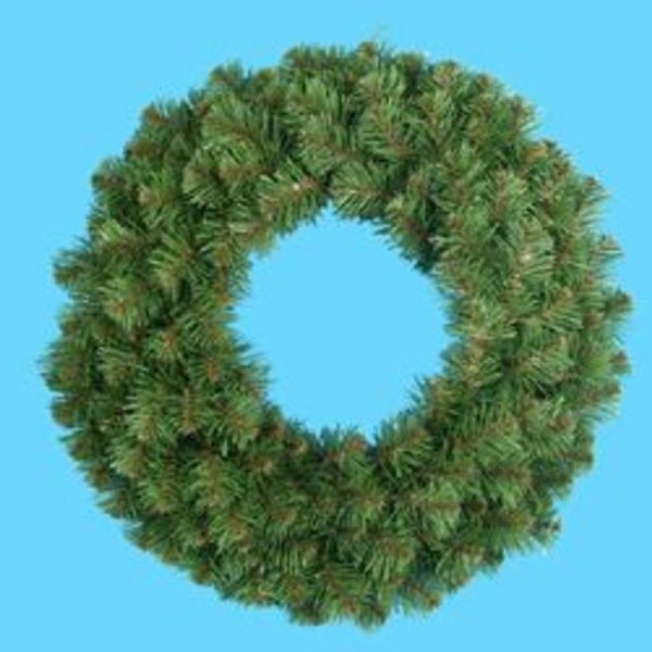 "30"" Virginia Pine Artificial Christmas Wreath - Unlit - green"