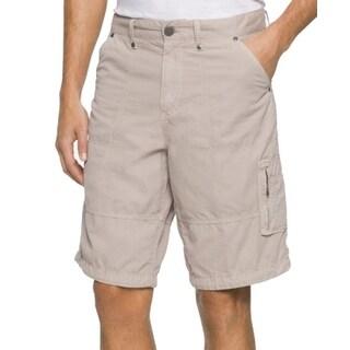 Calvin Klein NEW Beige Mens Size 34 Zipper Fly Revel Cargo Khaki Shorts