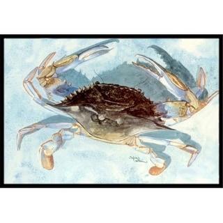 Carolines Treasures 8011JMAT 24 x 36 in. Blue Crab Indoor Or Outdoor Mat