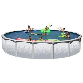 Ridge View Round Above Ground Swimming Pool Package 18 ft. x 52 in.