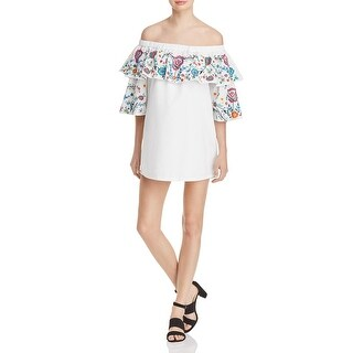Parker Womens Cocktail Dress Off-The-Shoulder Elbow Sleeves