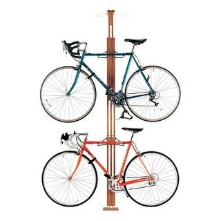 Gear Up Oak 2-Bike Floor/Ceiling Bicycle Storage Rack - 20095