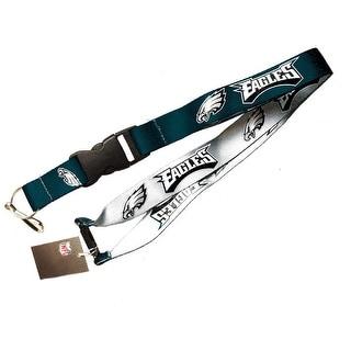 Philadelphia Eagles NFL Reversible Lanyard Keychain Id Ticket Holder