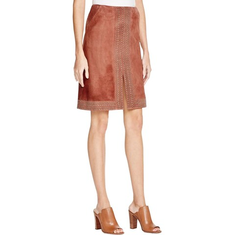 Elizabeth and James Womens Skirt Goat Leather Studded