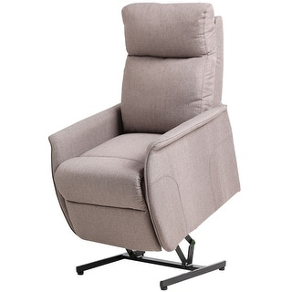 Etonnant Costway Electric Power Lift Chair Recliner Sofa Fabric Padded Seat Living  Room W/Remote