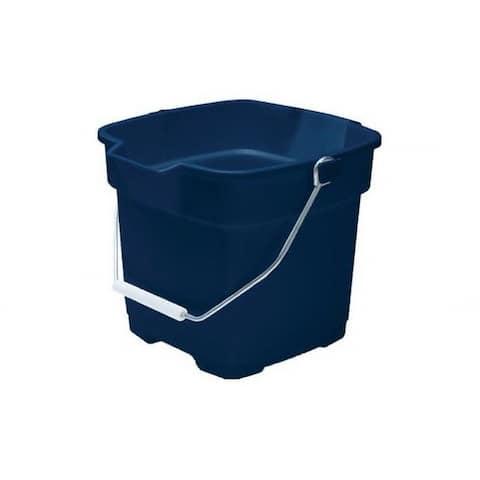 Rubbermaid 2964-00-ROYBL Roughneck Plastic Bucket, Royal Blue, 12 Qt