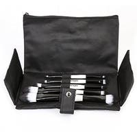 Ivation 5 Piece Double Sided Essential Brush Set with Travel Pouch