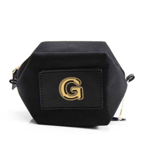 "Boulevard Jet Black Monogram ""G"" Nylon Bubble Pouch Mini Wallet"
