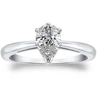 Link to Ethical Sparkle 2ctw Lab Grown Pear Diamond Engagement Ring 14k Gold Similar Items in Wedding Rings