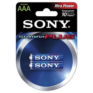 SONY S-AM4B2A Stamina Plus Alkaline Batteries (AAA, 2 Pack)