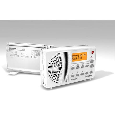 Sangean SG-108 White FM Stereo Digital HD Radio