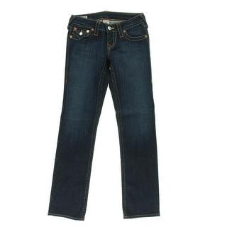 True Religion Womens Petites Billy Denim Lonestar Wash Jeans - 30