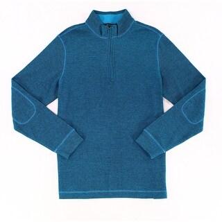Bugatchi Blue Mens Size Medium M Pullover Quarter Zip Sweater