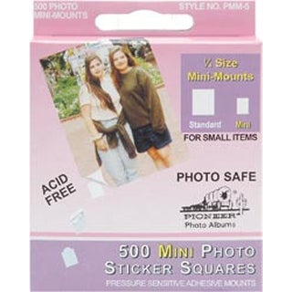 "White .25"" - Mini Photo Squares Self-Adhesive 500/Pkg"