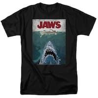 Jaws Lined Poster Mens Short Sleeve Shirt