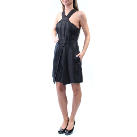 RACHEL ROY Womens Black Sleeveless V Neck Above The Knee Sheath Party Dress Size: 2