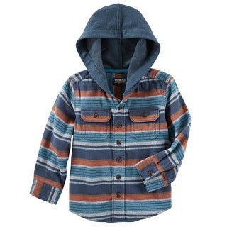 OshKosh B'gosh Little Boys' Flannel Pullover, 4-Toddler - Multi
