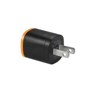 REIKO 1 AMP DUAL COLOR PORTABLE USB TRAVEL ADAPTER CHARGER IN ORANGE BLACK