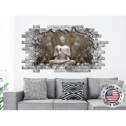 Buddha Statue Hole in the Decals Yoga Studio Decor