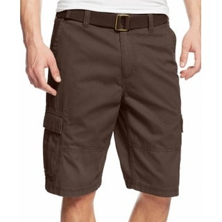 American Rag NEW Brown Mens Size 34 Belted Relaxed Fit Cargo Shorts
